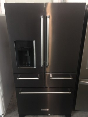 Black Kitchenaid Refrigerator Appliance Max