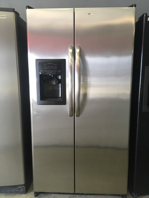 stainless ge side by side refrigerator